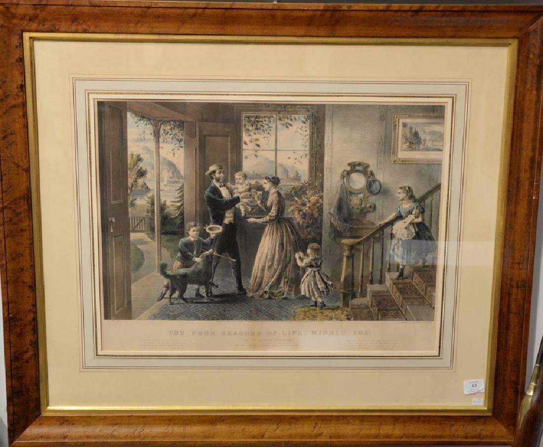Currier & Ives  large folio hand colored lithograph