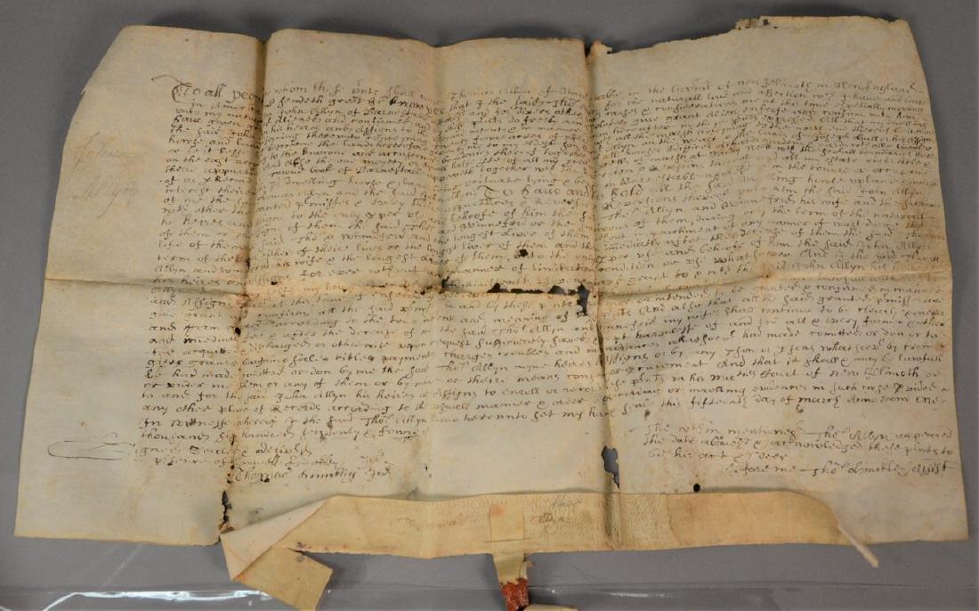 Land deed on Velum, Thomas Allyn Barnstable and John