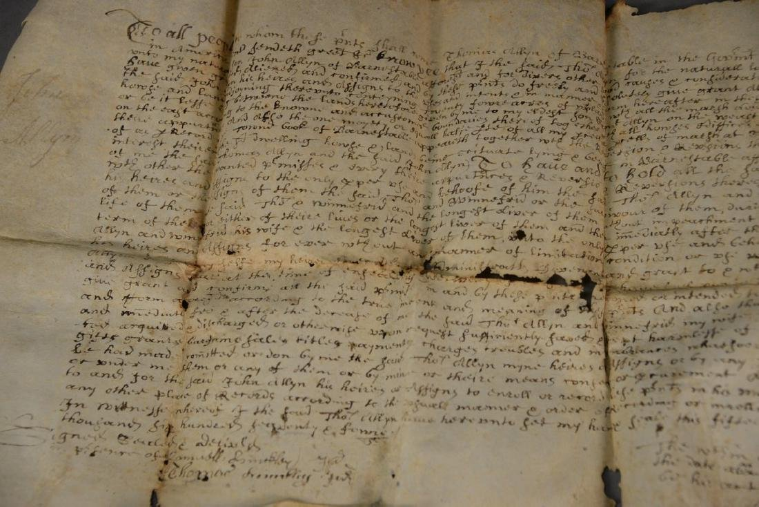 Land deed on Velum, Thomas Allyn Barnstable and John - 2