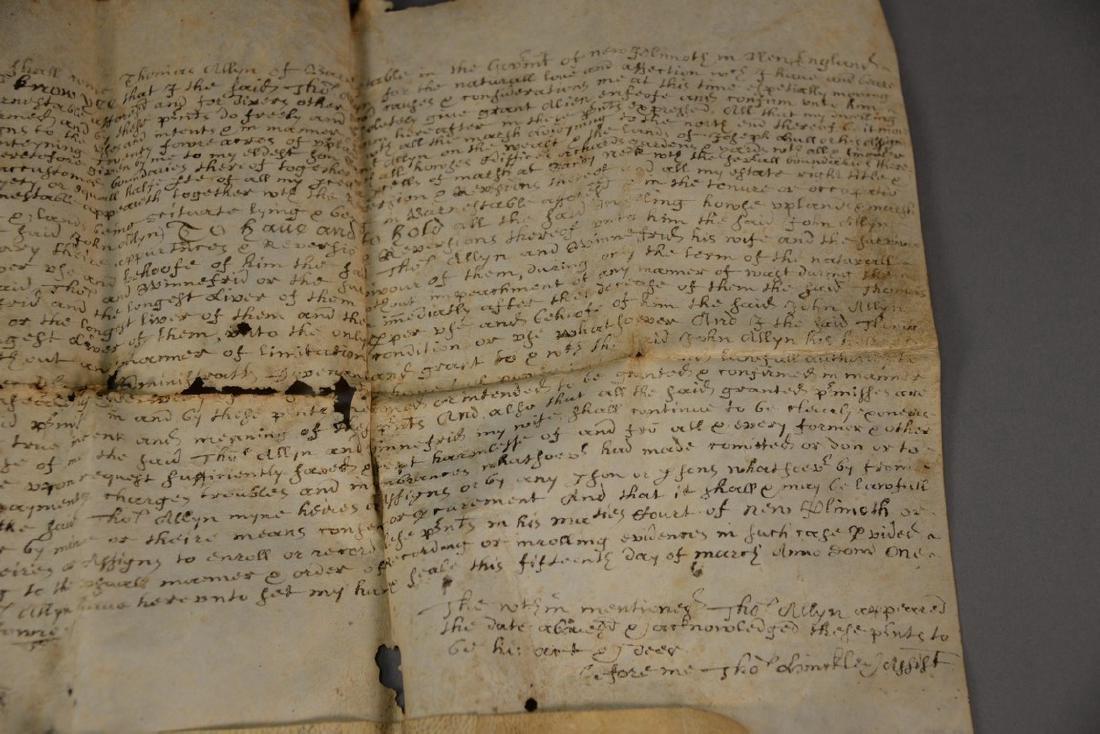 Land deed on Velum, Thomas Allyn Barnstable and John - 3