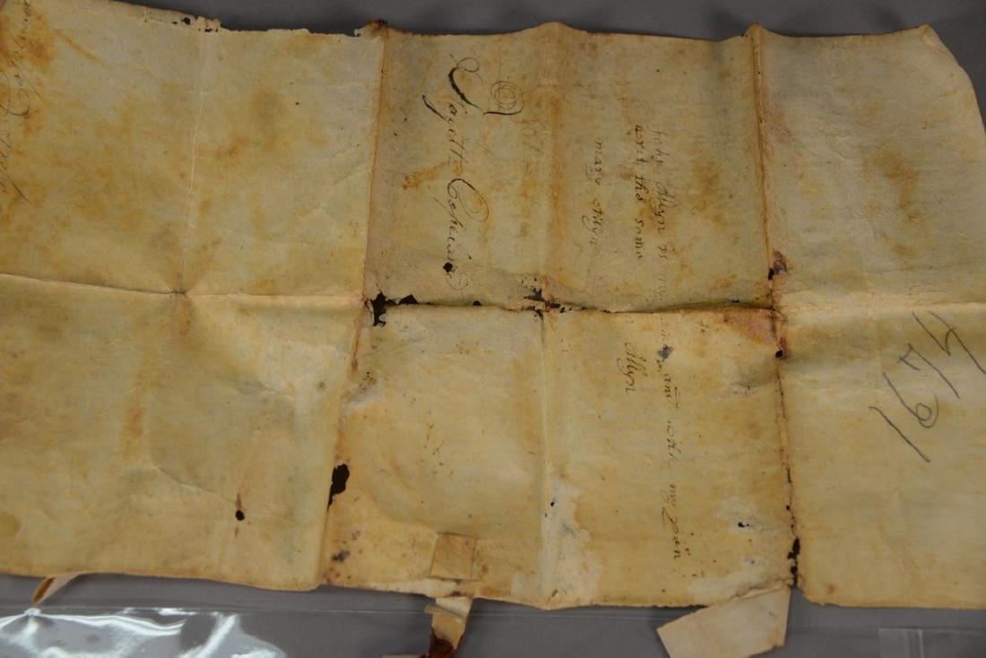 Land deed on Velum, Thomas Allyn Barnstable and John - 4