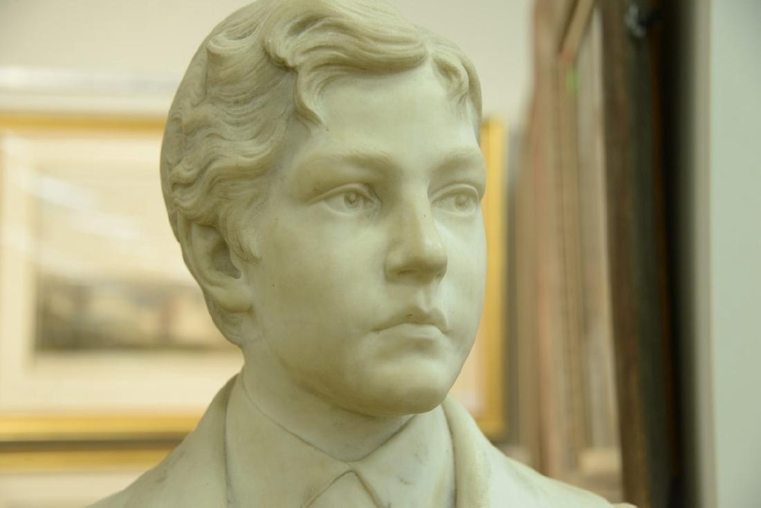 Rudolf Schwanthaler (1842-1879)  carved white marble - 5