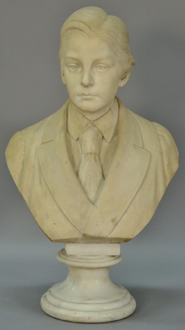 Rudolf Schwanthaler (1842-1879)  carved white marble