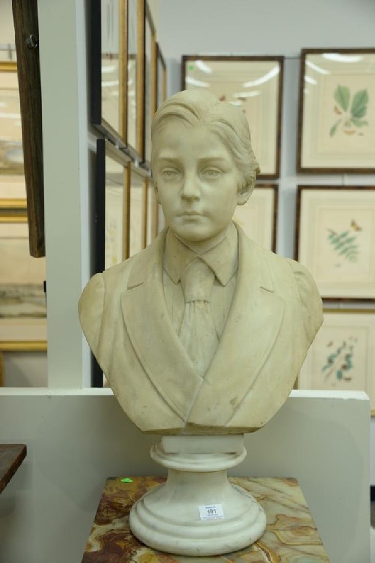 Rudolf Schwanthaler (1842-1879)  carved white marble - 2