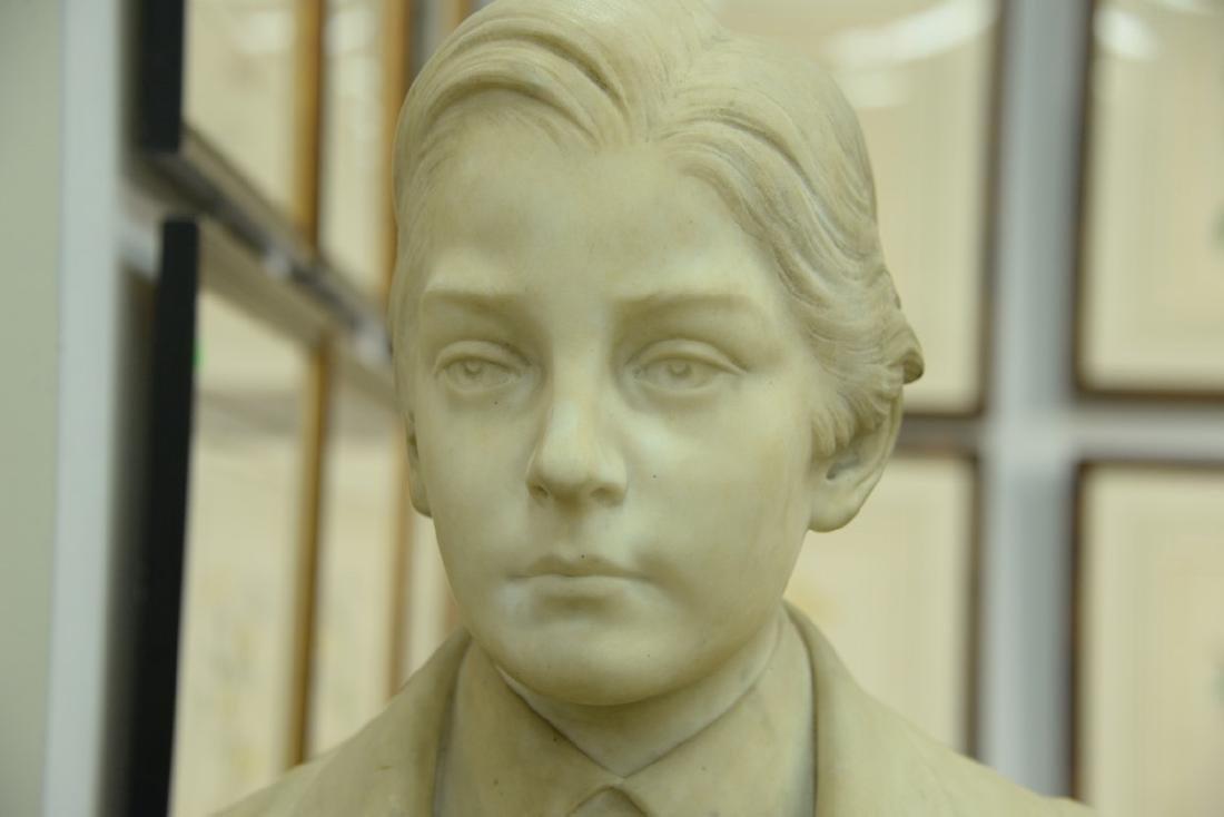 Rudolf Schwanthaler (1842-1879)  carved white marble - 3