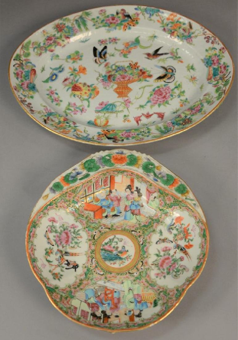 Two Famille Rose serving dishes to include a serving