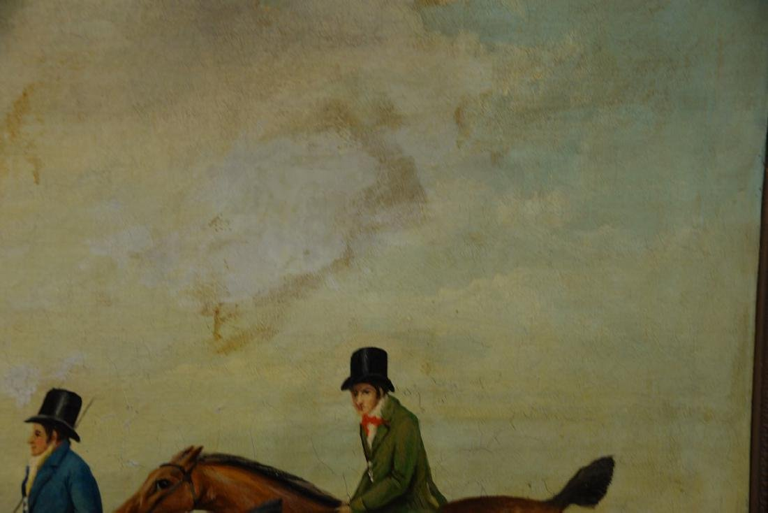 19th Century  oil on canvas  Two Riders on Horses with - 3