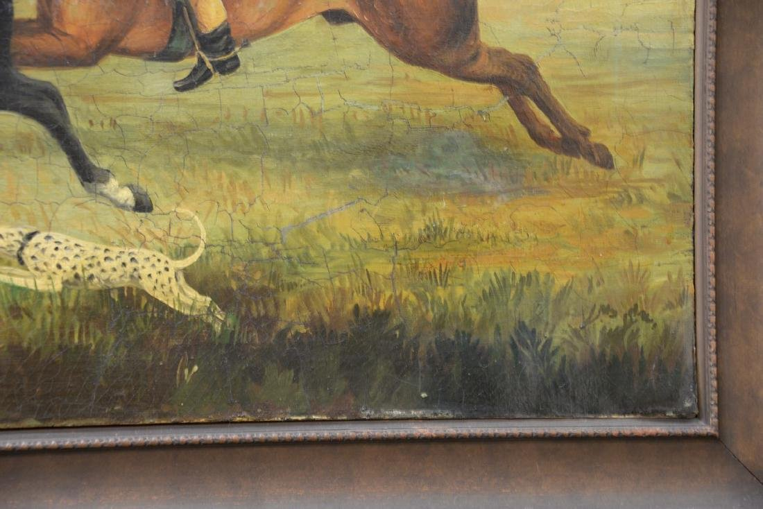 19th Century  oil on canvas  Two Riders on Horses with - 4