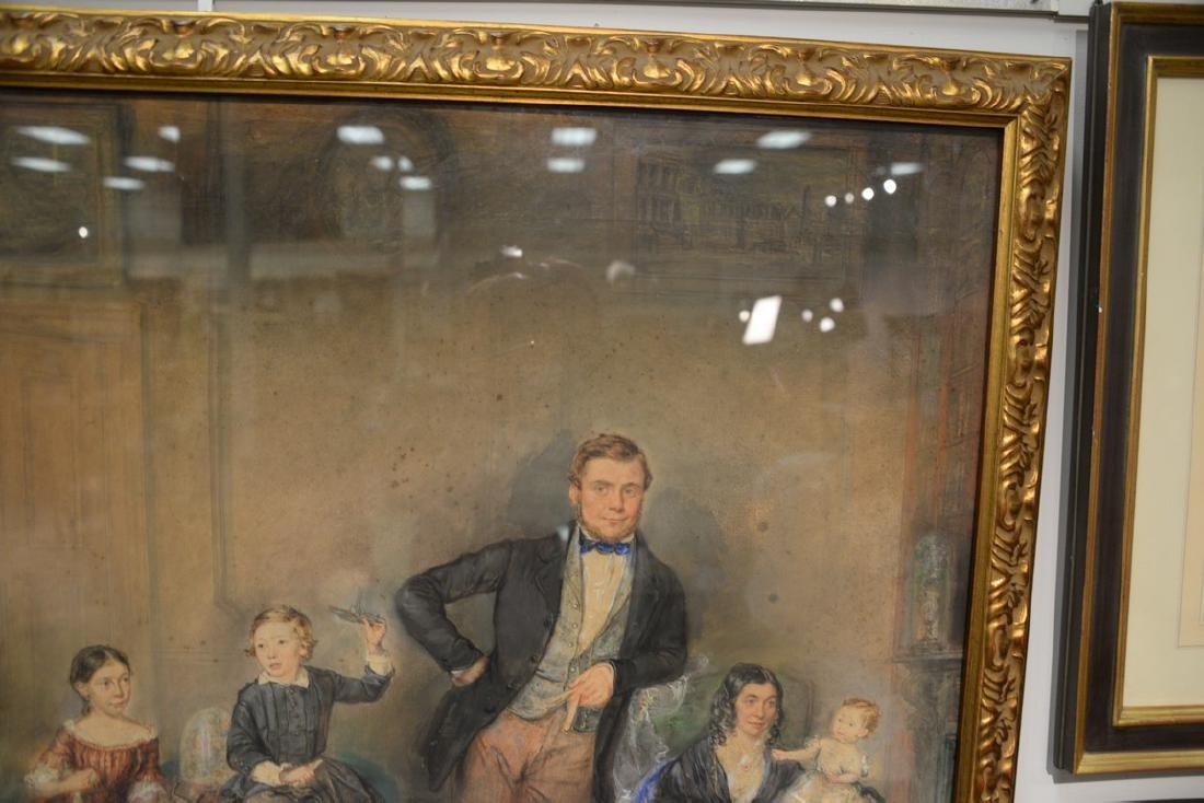 19th Century  mixed media  Family Portrait  unsigned - 5