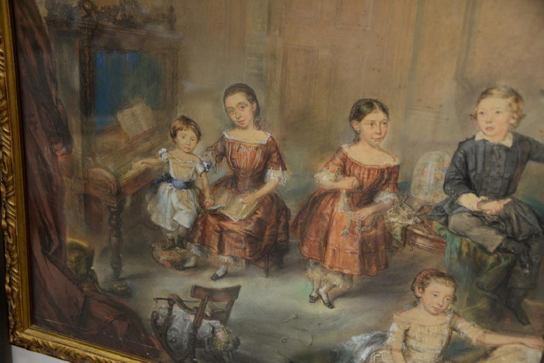 19th Century  mixed media  Family Portrait  unsigned - 6