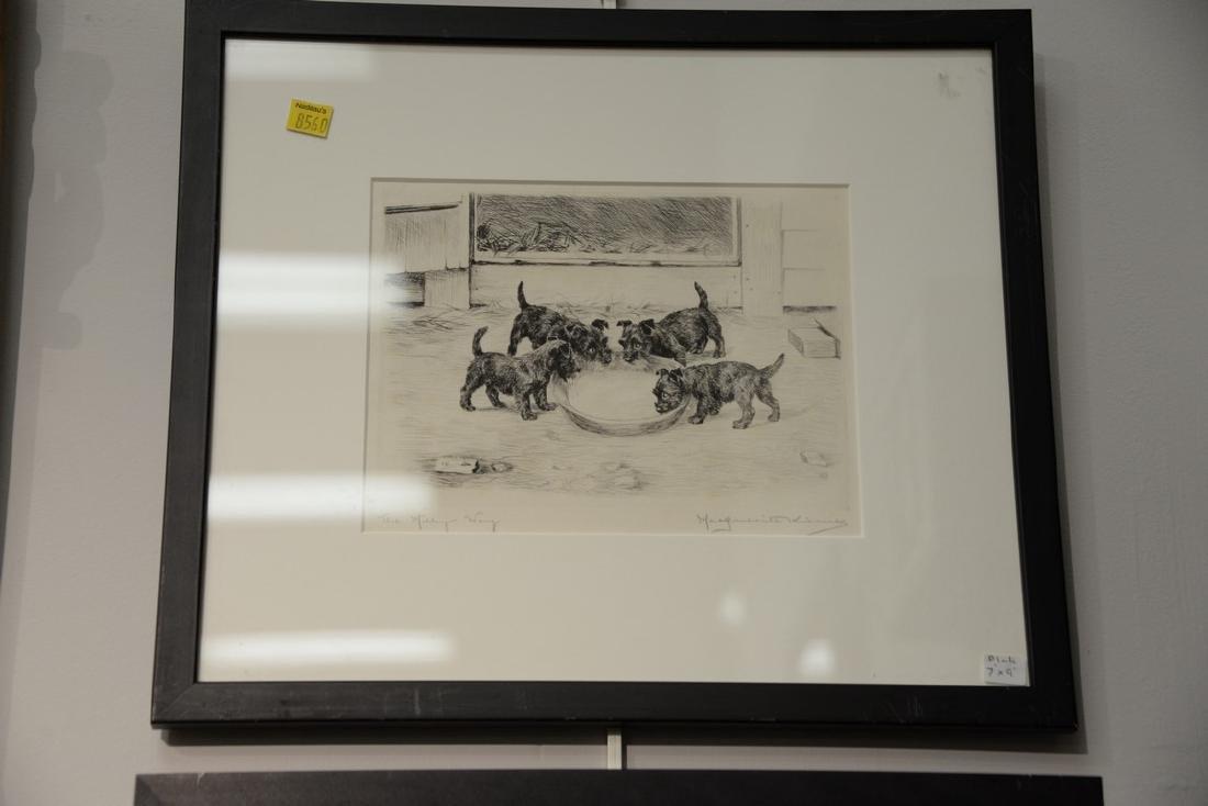 Set of five Marguerite Kirmse (1885-1954)  etchings - 2