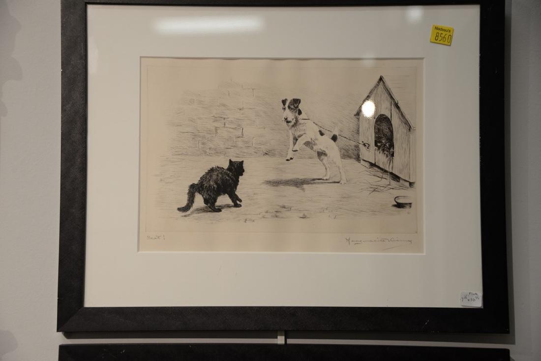 Set of five Marguerite Kirmse (1885-1954)  etchings - 3