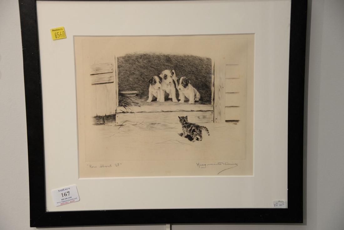 Set of five Marguerite Kirmse (1885-1954)  etchings - 4