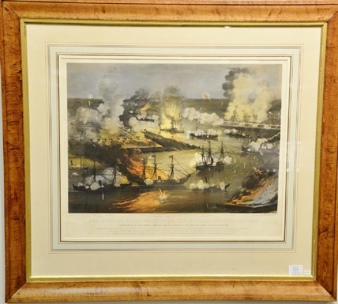 """Currier & Ives  hand colored lithograph  """"The Splendid"""