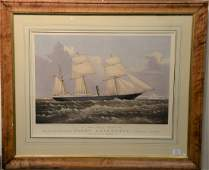 Currier  Ives  hand colored lithograph  To James