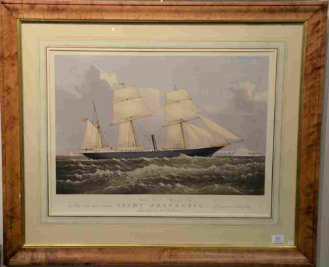 Currier & Ives  hand colored lithograph  To James