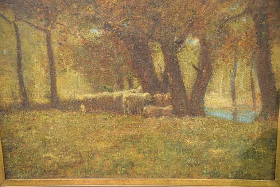 Louis Paul Dessar (1867-1952)  oil on canvas  Sheep and - 3