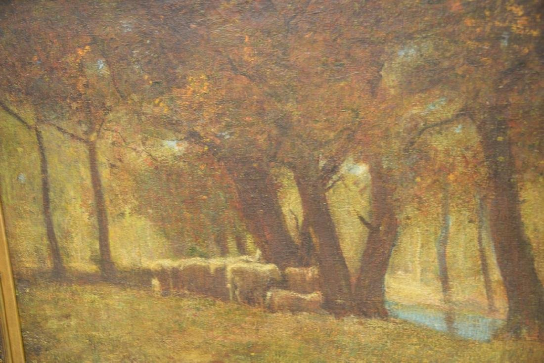 Louis Paul Dessar (1867-1952)  oil on canvas  Sheep and - 4