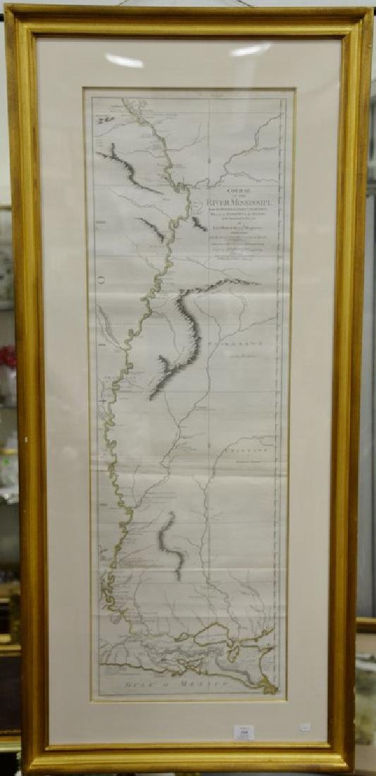 Copper engraved map, Course of the River Mississippi