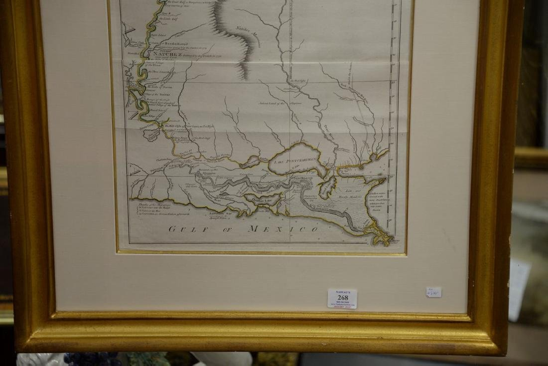 Copper engraved map, Course of the River Mississippi - 3