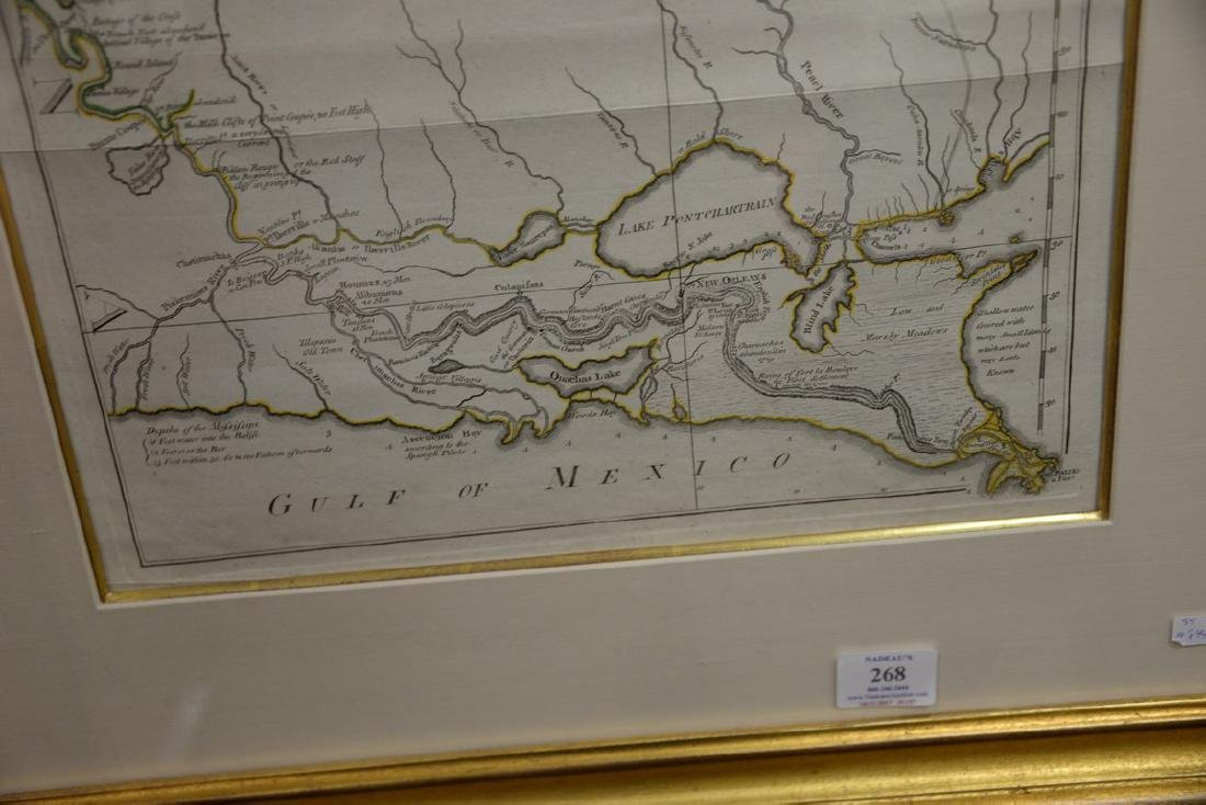 Copper engraved map, Course of the River Mississippi - 5
