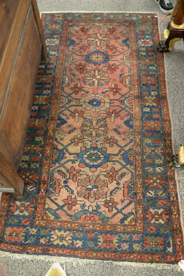 "Hamaden Oriental throw rug.  3'4"" x 6'6"""