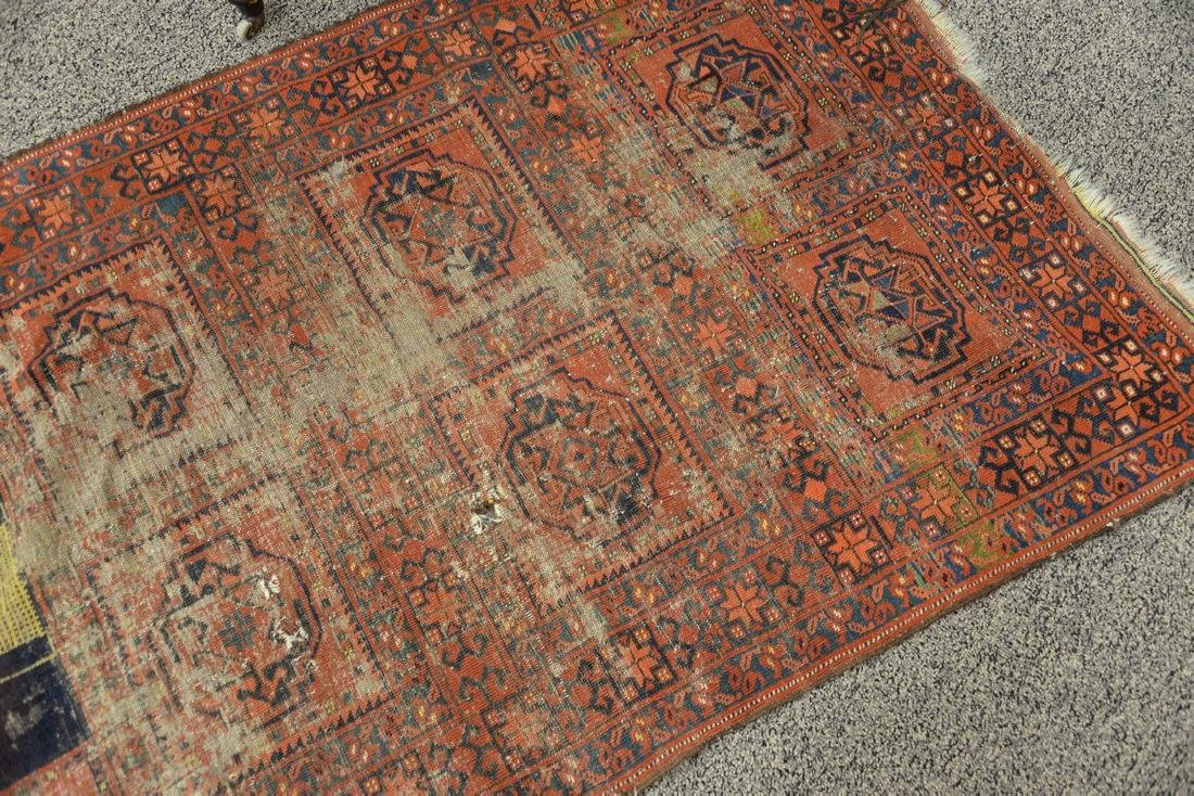 Unusual Bokhara Oriental throw rug with mosque flying - 3