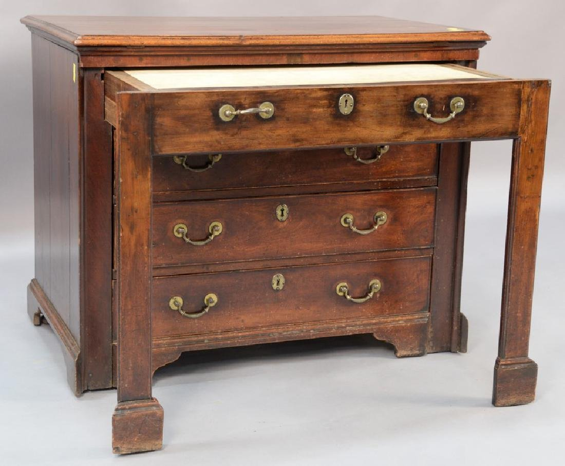 George III walnut and walnut veneered architect's