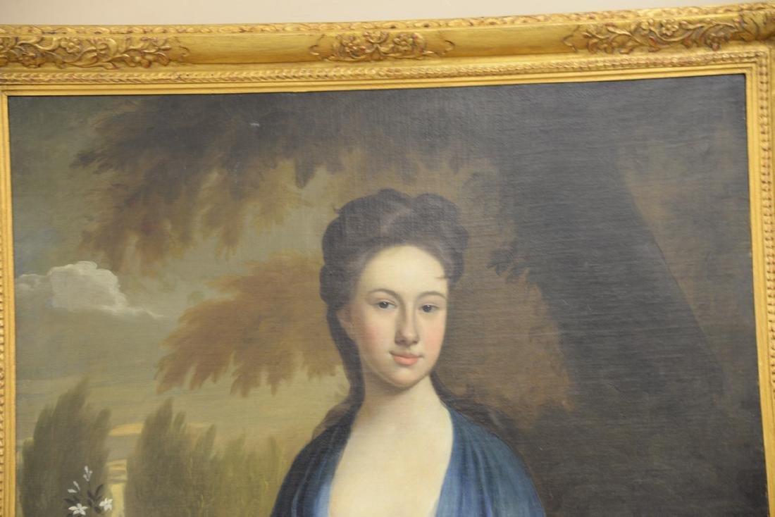 Large 19th century portrait  oil on canvas  Woman - 2