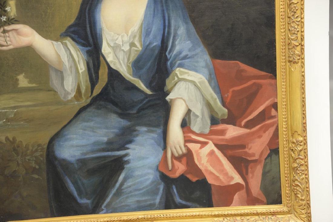 Large 19th century portrait  oil on canvas  Woman - 4