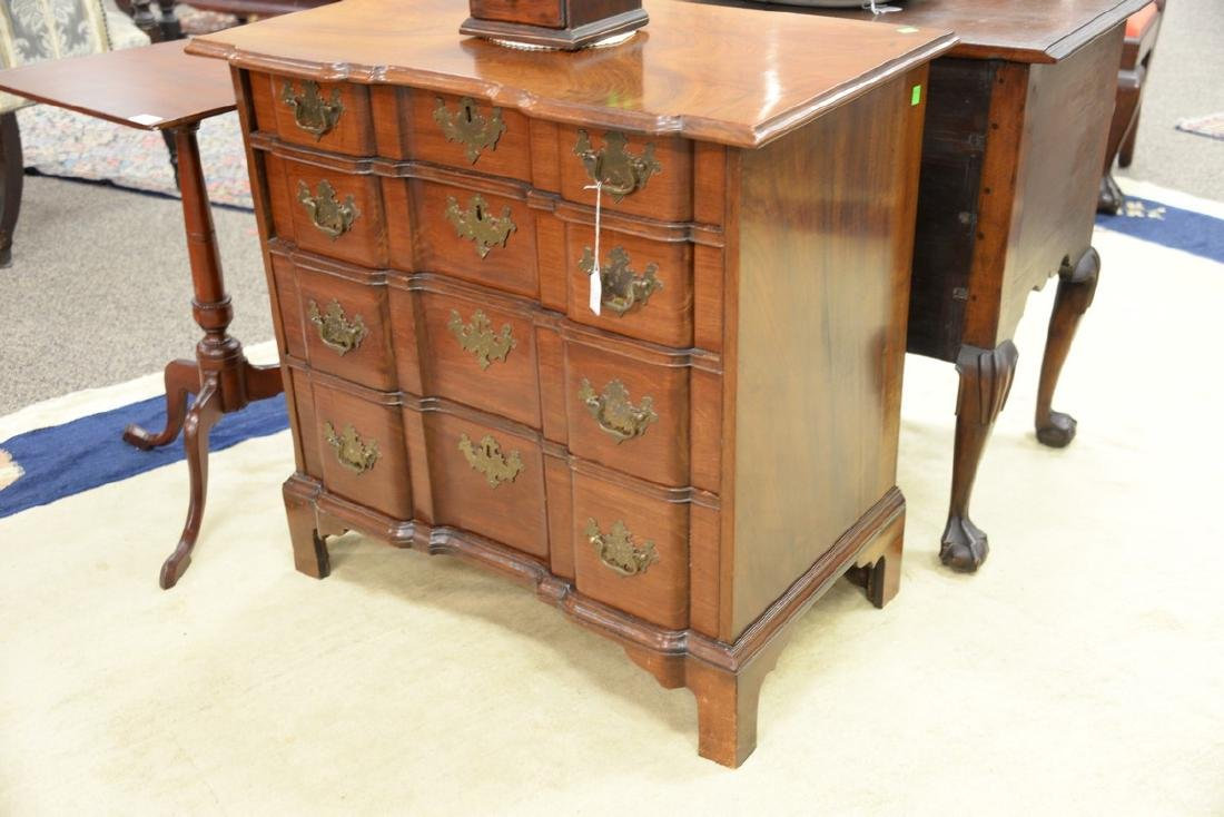 Chippendale mahogany diminutive block front chest of - 2