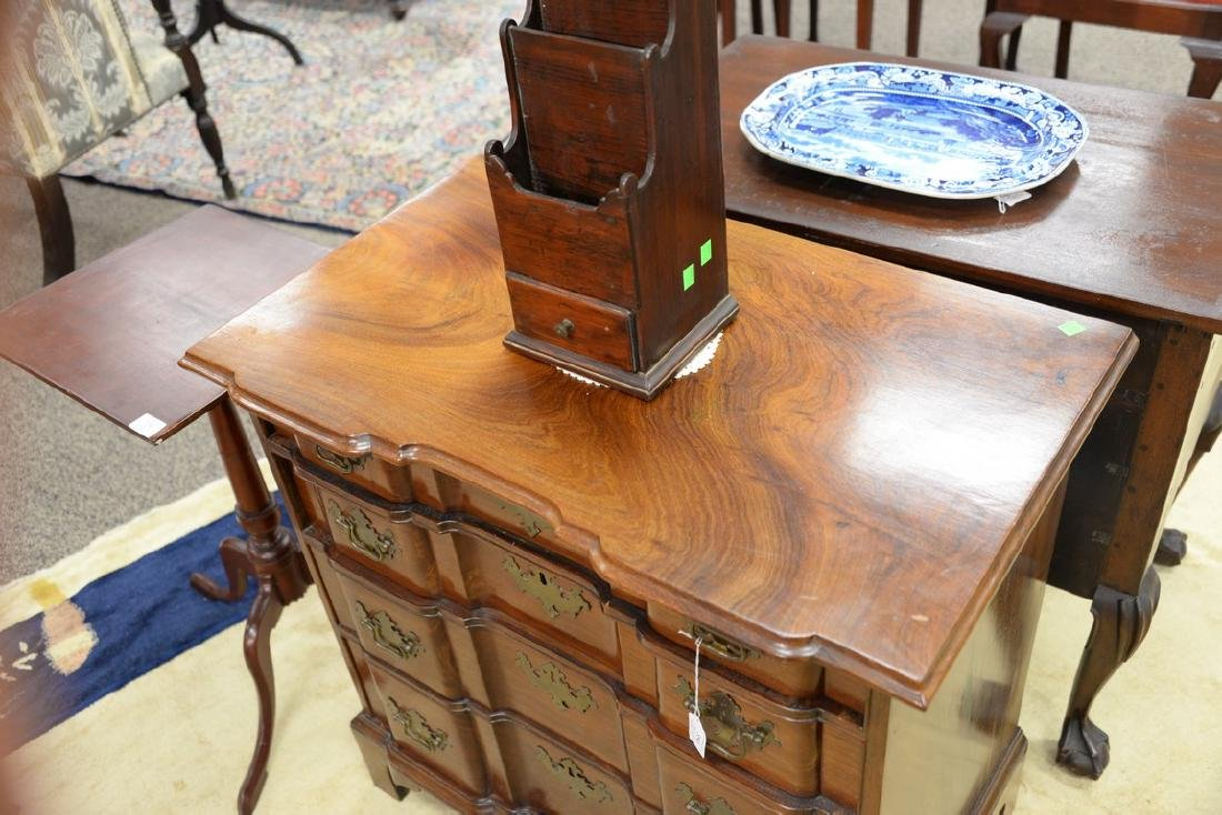 Chippendale mahogany diminutive block front chest of - 3