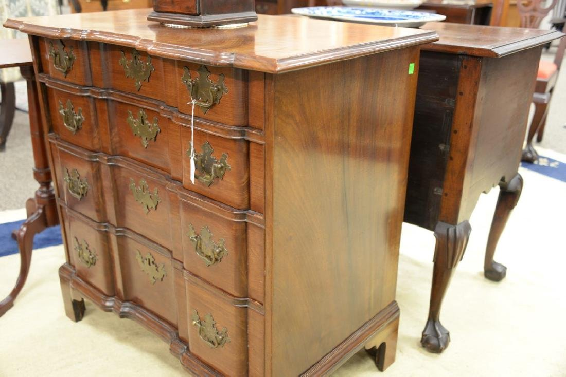 Chippendale mahogany diminutive block front chest of - 5