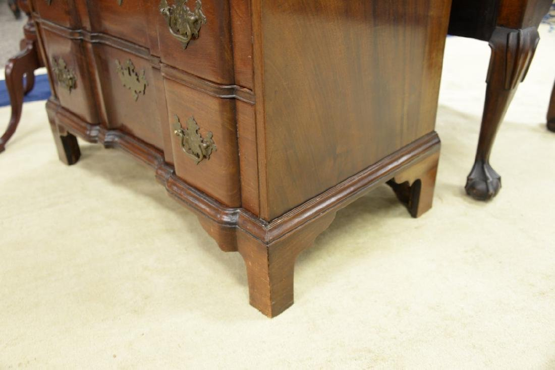 Chippendale mahogany diminutive block front chest of - 6
