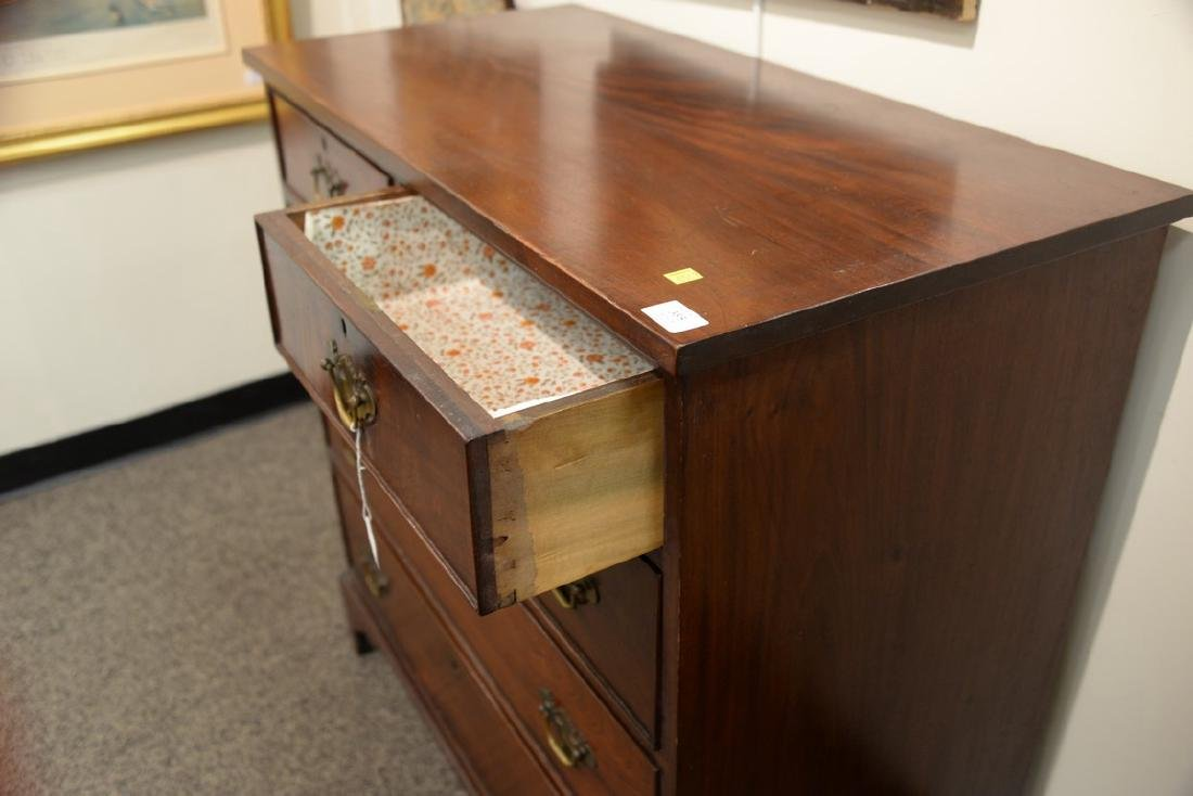 Federal walnut chest, two over three drawer set on cut - 4