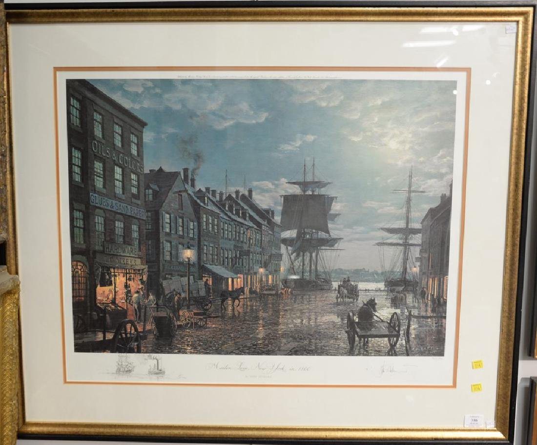 John Stobart (1929)  print  Maiden Lane New York in