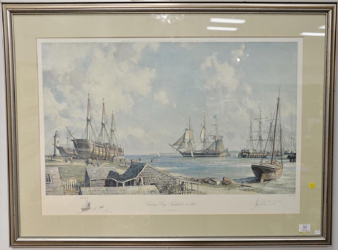 John Stobart (1929)  print  Sailing Days Nantucket, in