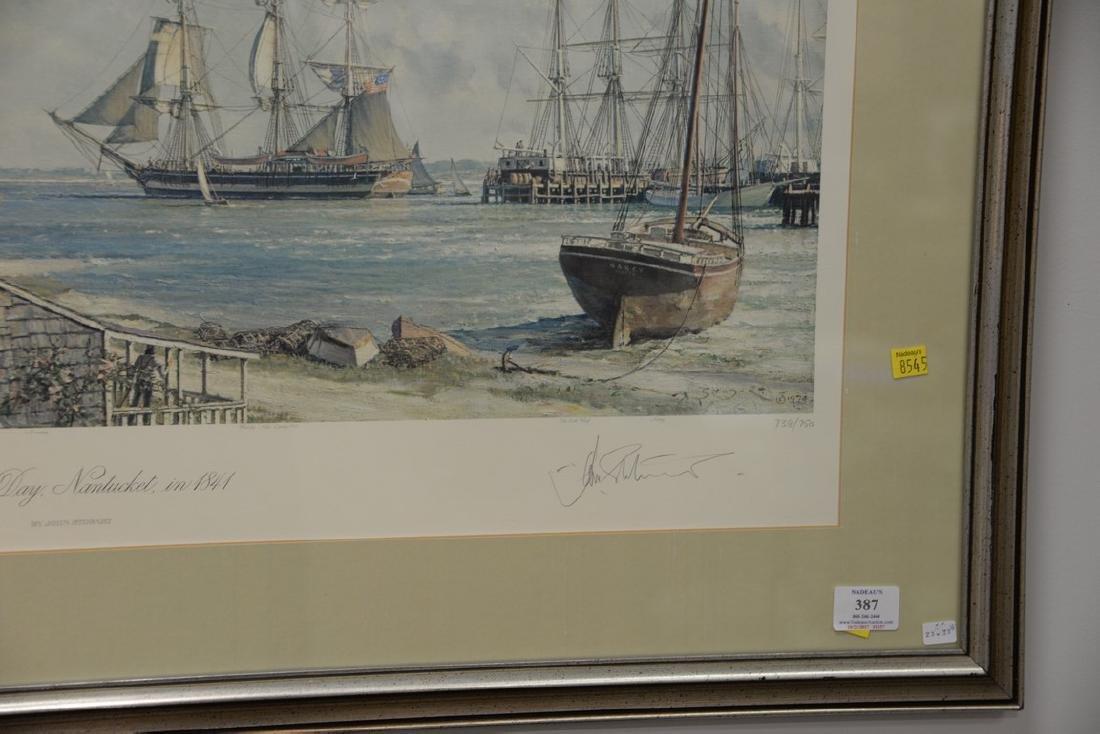 John Stobart (1929)  print  Sailing Days Nantucket, in - 2