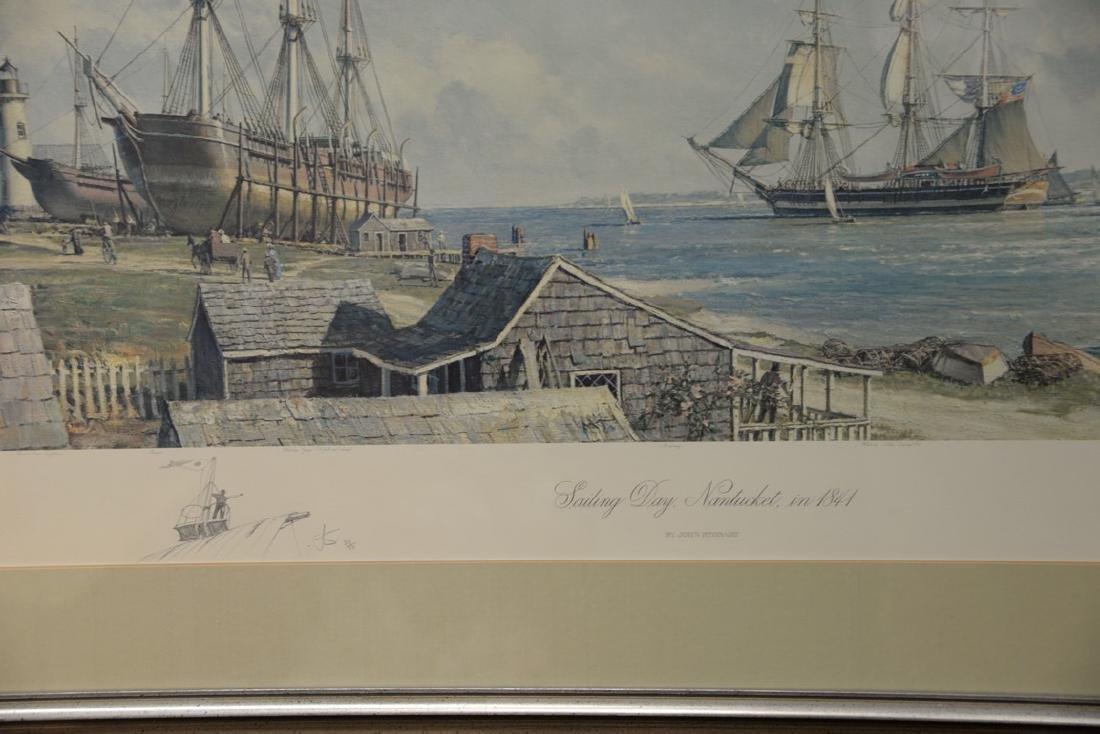 John Stobart (1929)  print  Sailing Days Nantucket, in - 3