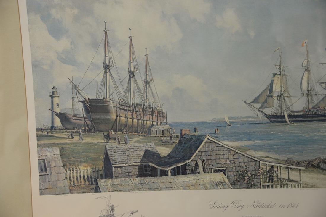John Stobart (1929)  print  Sailing Days Nantucket, in - 4