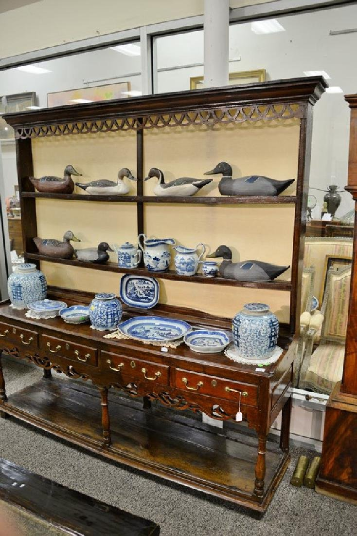 Welsh cupboard in two parts, upper portion having - 2