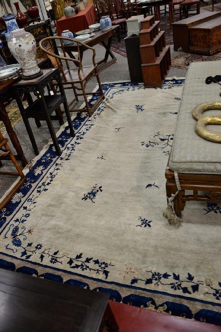 Peking Chinese Oriental carpet (some wear and damage). - 2
