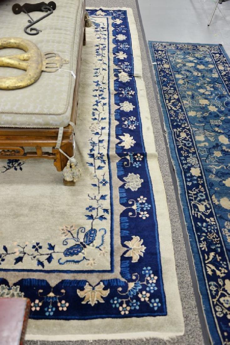 Peking Chinese Oriental carpet (some wear and damage). - 3
