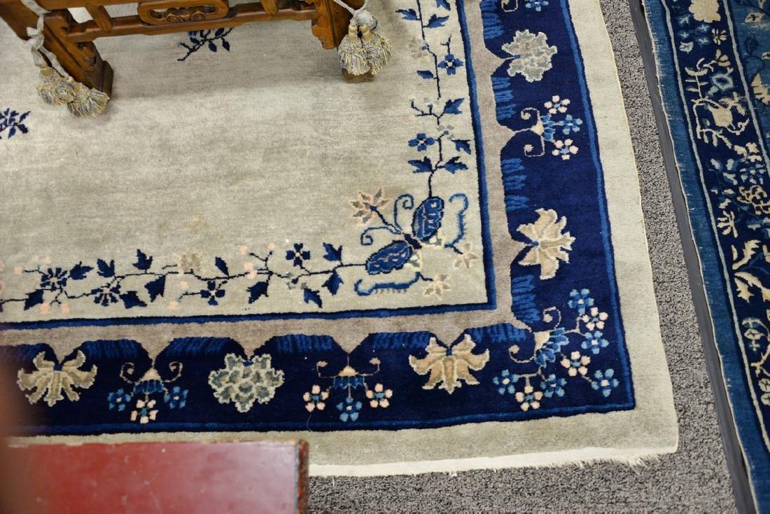Peking Chinese Oriental carpet (some wear and damage). - 4
