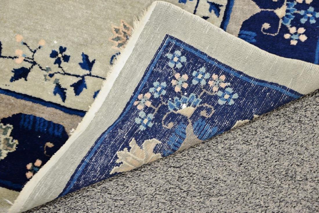 Peking Chinese Oriental carpet (some wear and damage). - 5