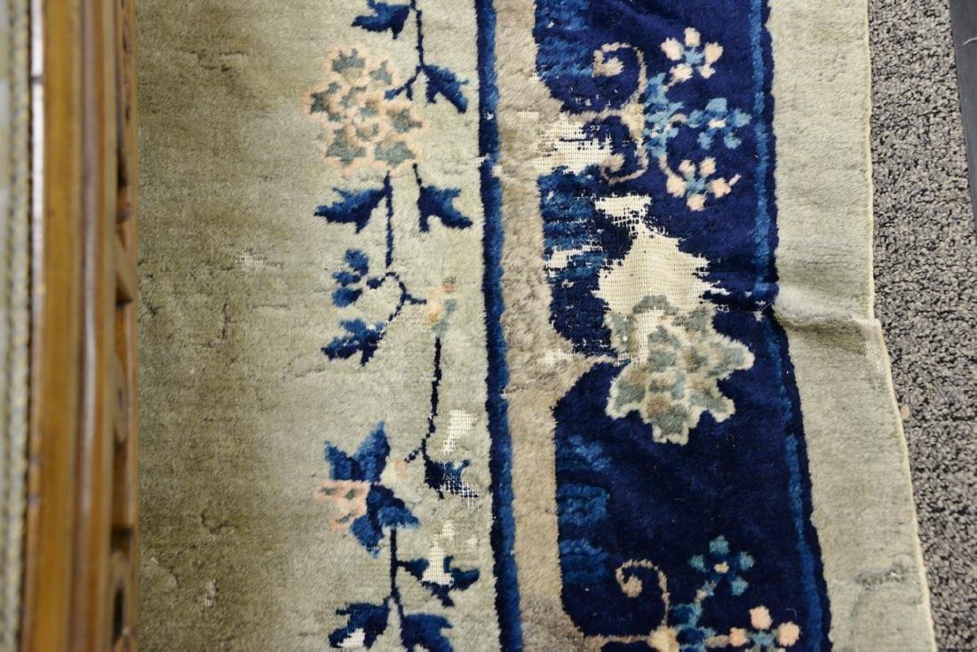 Peking Chinese Oriental carpet (some wear and damage). - 6