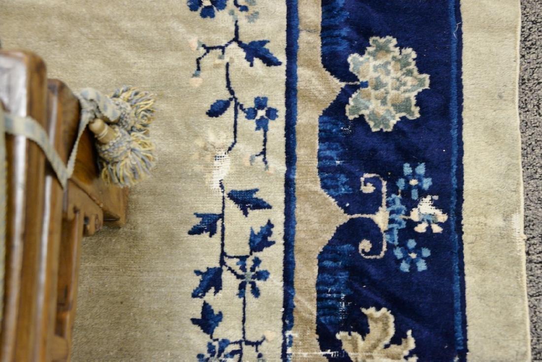 Peking Chinese Oriental carpet (some wear and damage). - 7