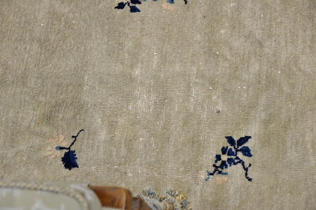 Peking Chinese Oriental carpet (some wear and damage). - 8