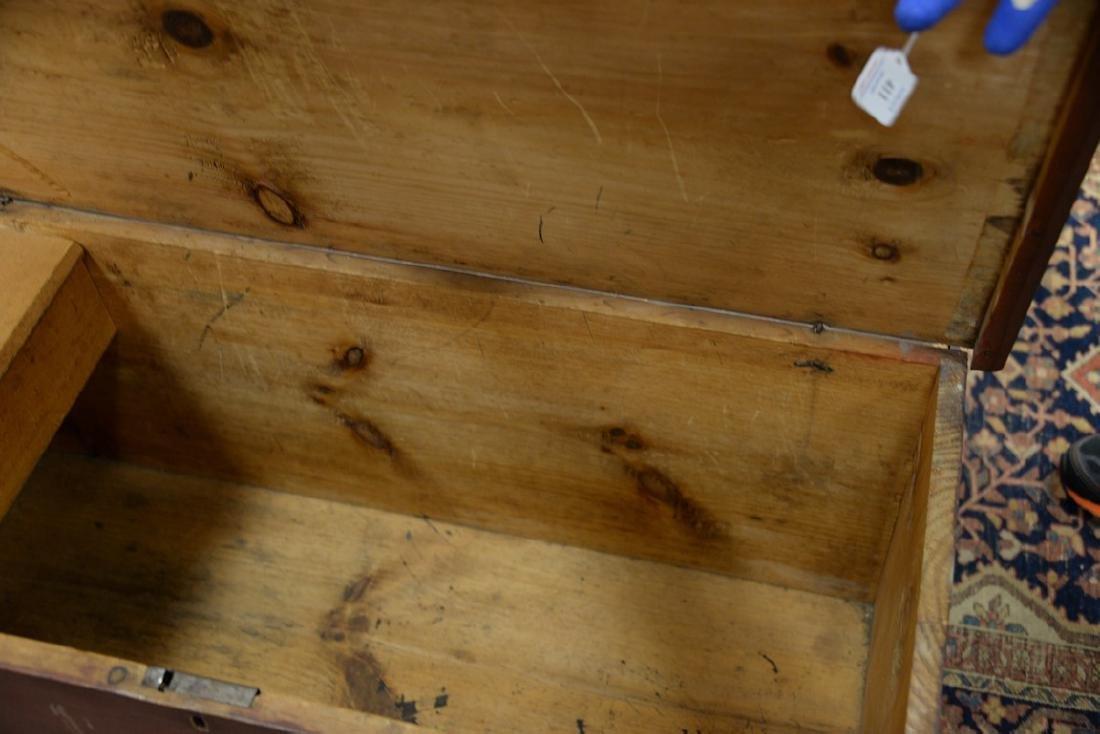 Primitive lift top blanket chest with original snipe - 4