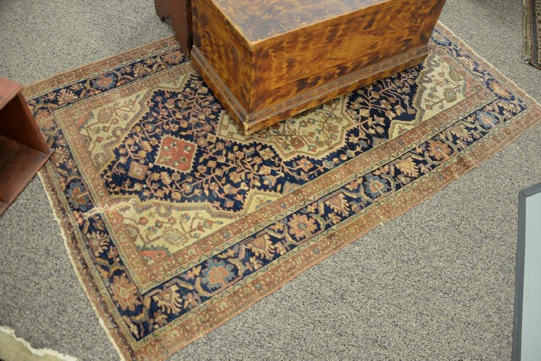 Farahan Sarouk Oriental throw rug (wear and tear).